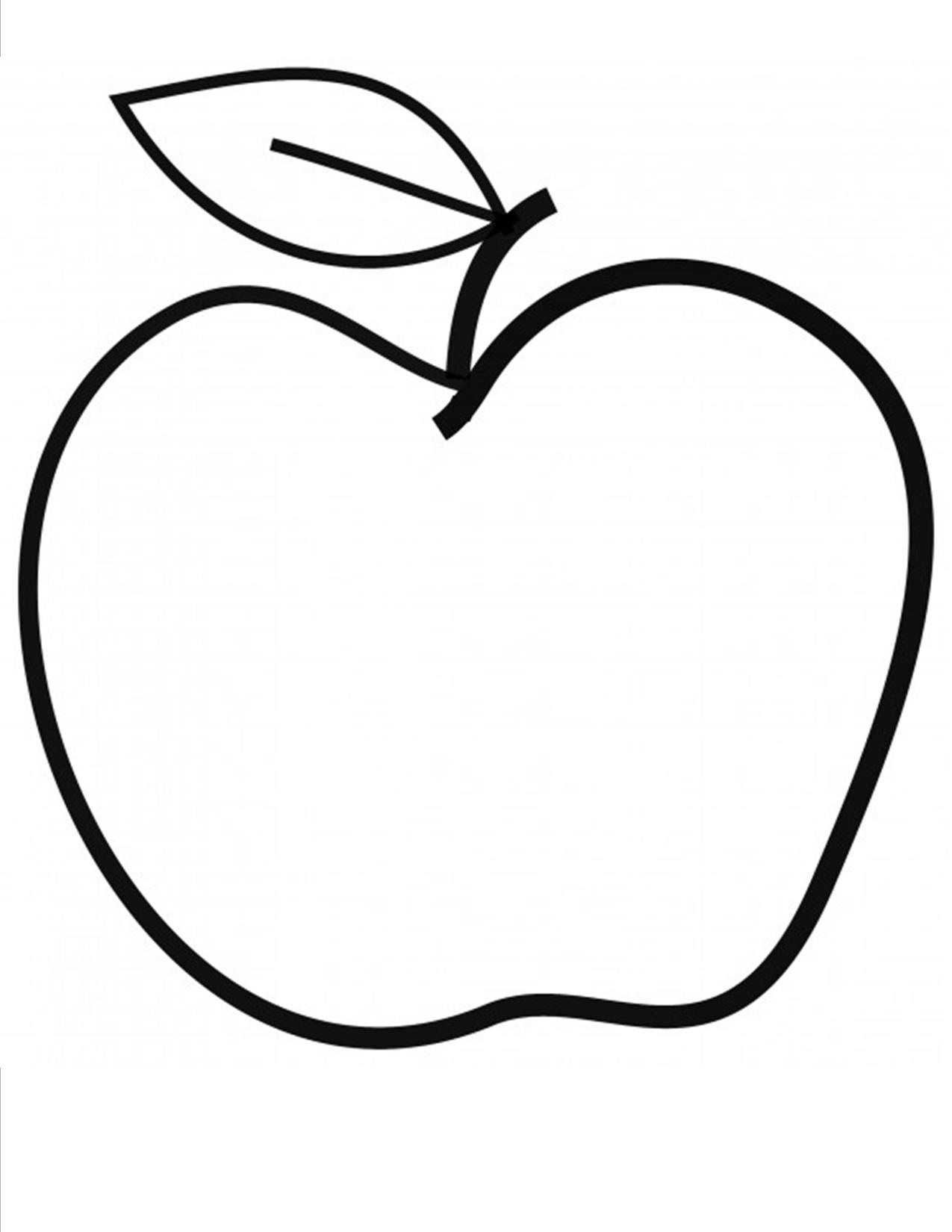 Apple Cut Out Template | Cool Templates @ www.template-kid.com