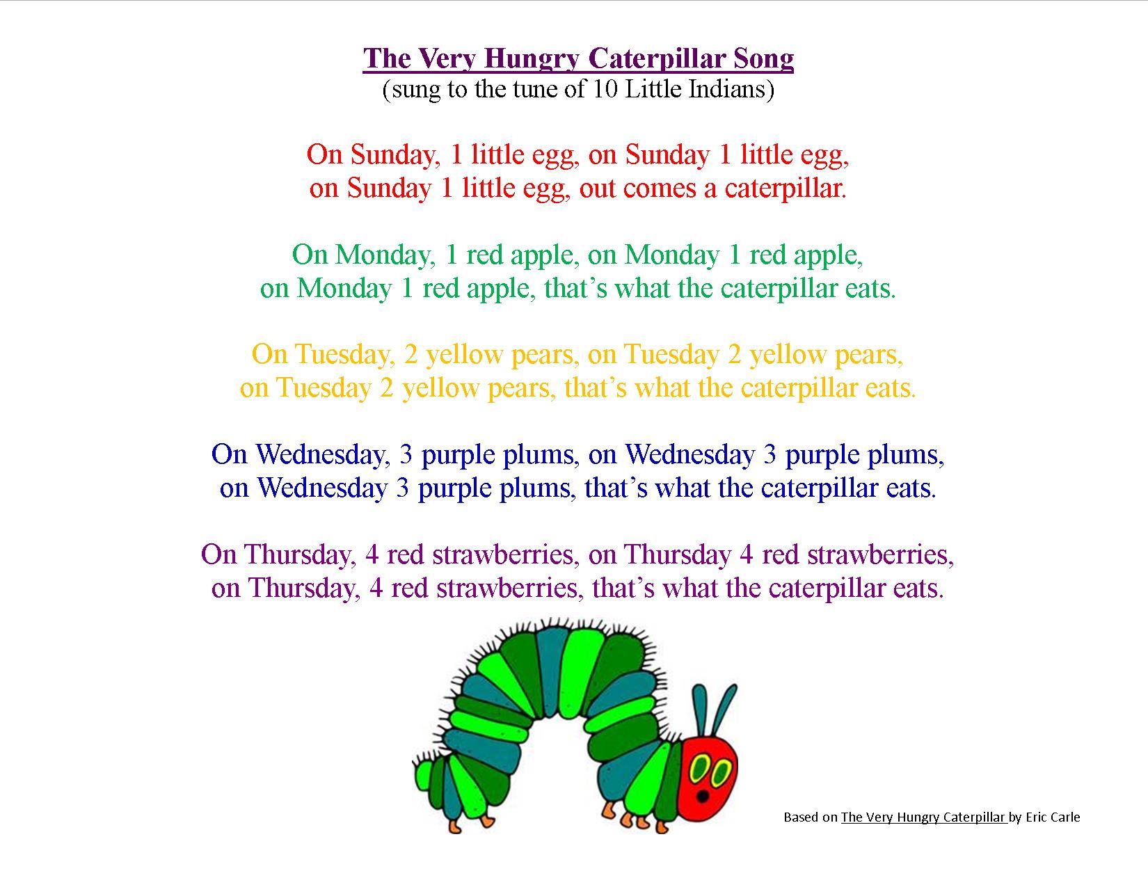 caterpillar song preschool storytime theme beautiful butterflies wee bee reads 395