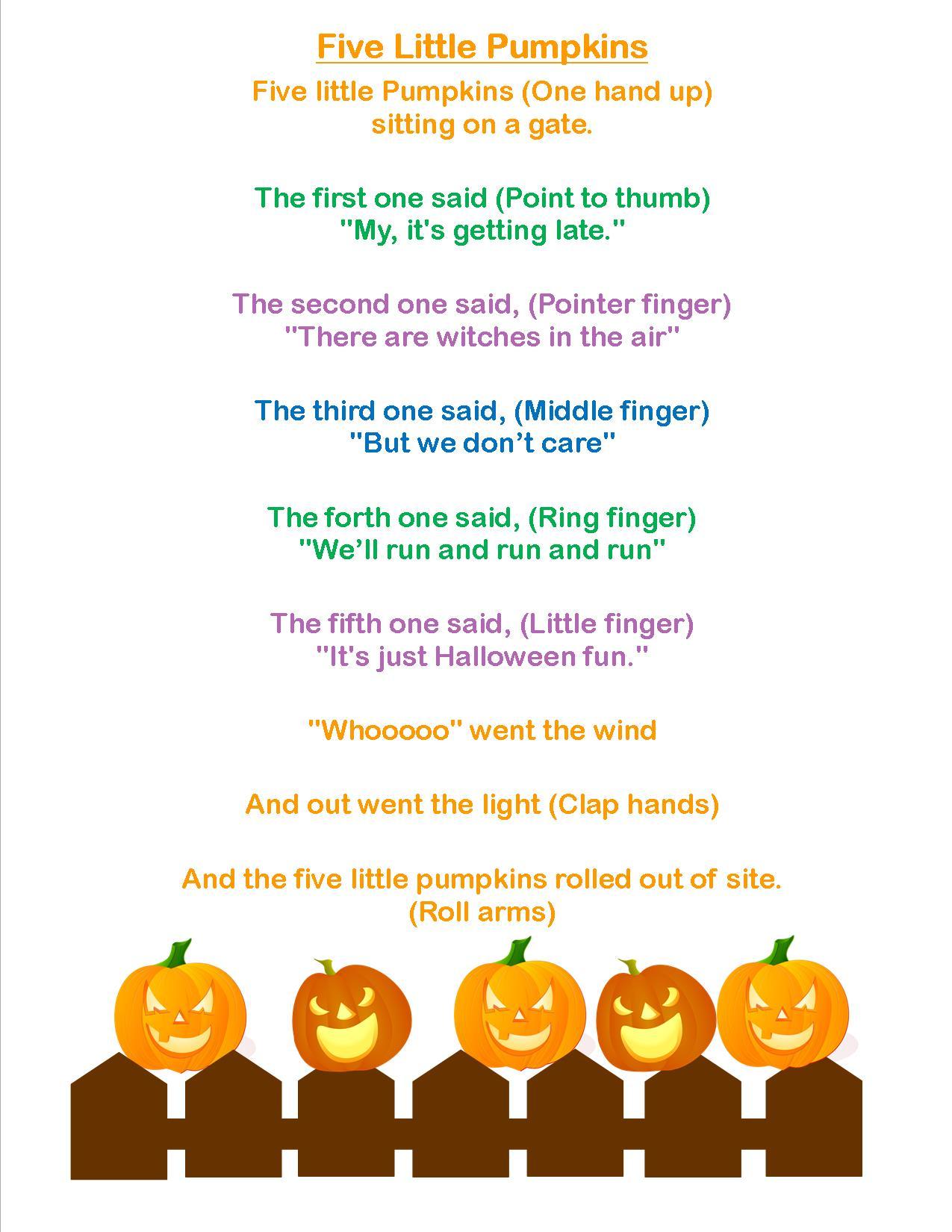 Storytime Theme Jack O Lanterns on Preschool Storytime