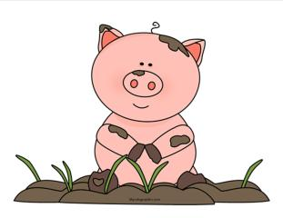 piggy-in-mud